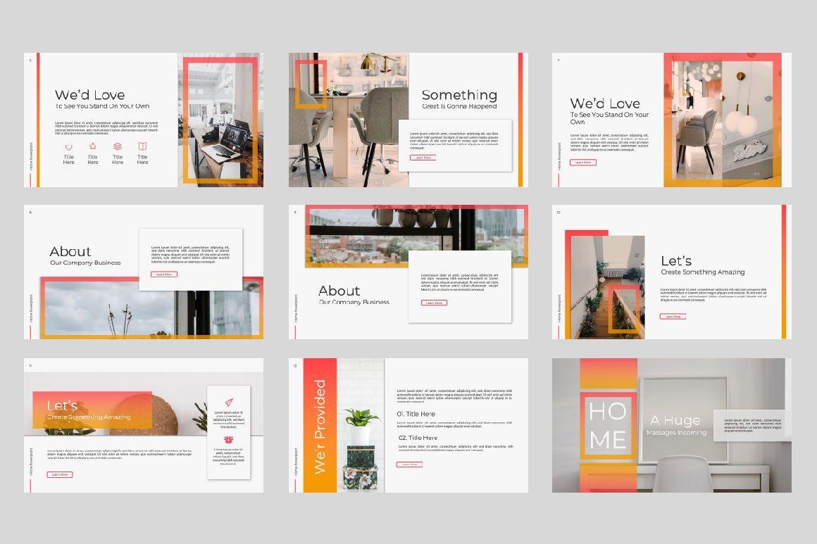 Home Business Google Slide, Slide 7, 07326, Presentation Templates — PoweredTemplate.com