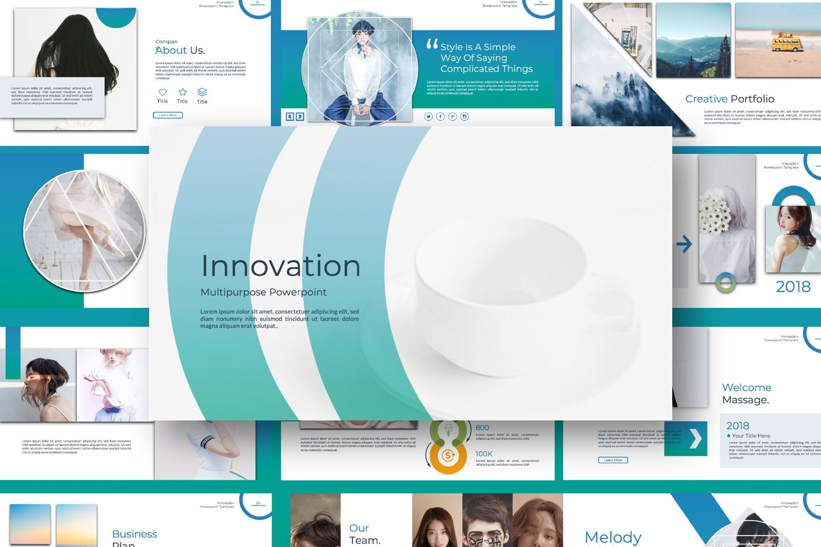 Innovation Business Powerpoint, 07327, Presentation Templates — PoweredTemplate.com