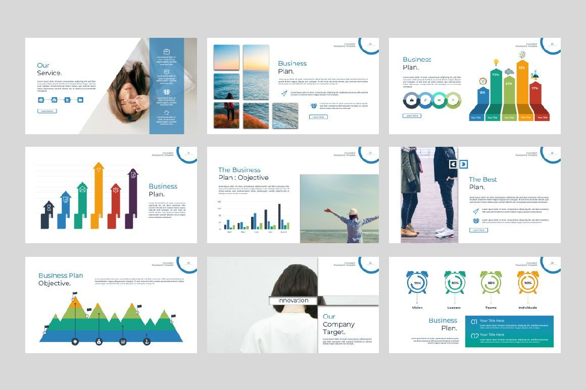 Innovation Business Powerpoint, Slide 4, 07327, Presentation Templates — PoweredTemplate.com
