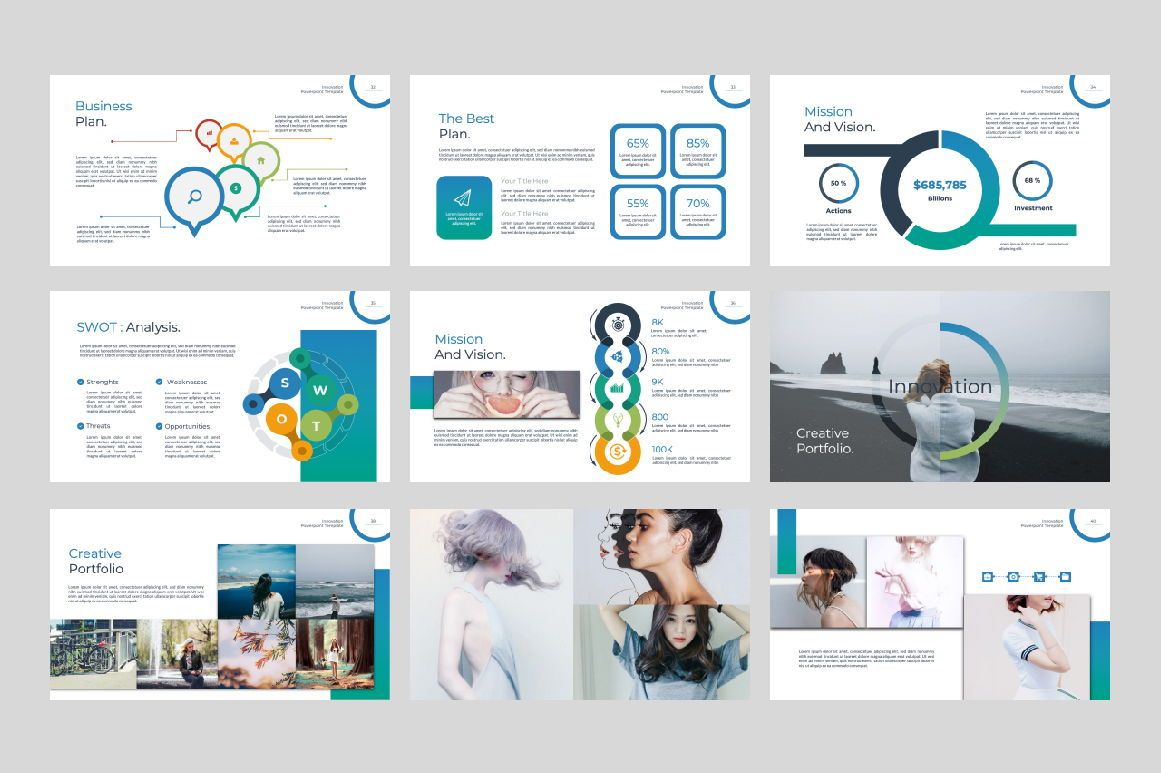 Innovation Business Powerpoint, Slide 5, 07327, Presentation Templates — PoweredTemplate.com