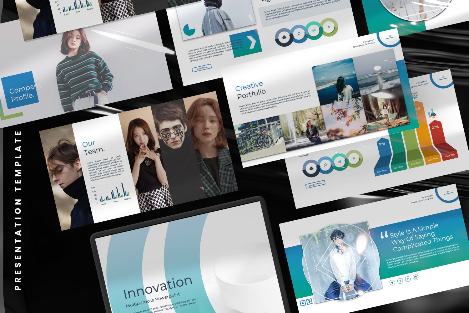 Innovation Business Powerpoint, Slide 7, 07327, Presentation Templates — PoweredTemplate.com