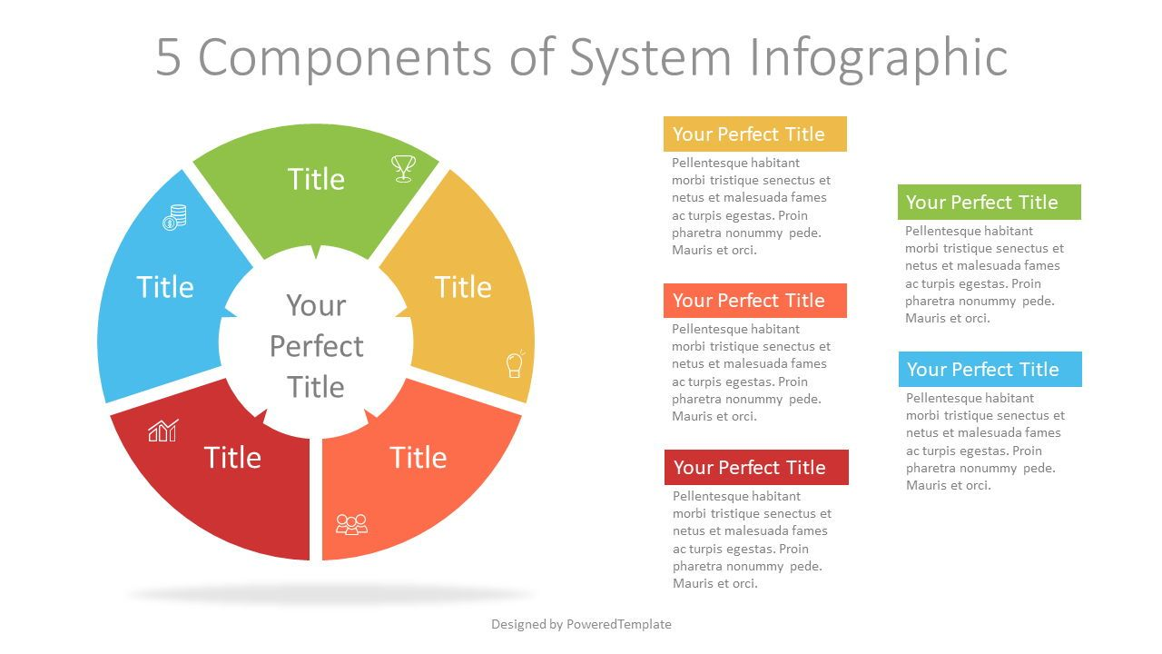 5 Components of System Infographic, 07329, Infographics — PoweredTemplate.com
