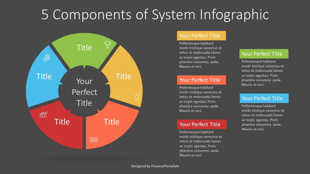 5 Components of System Infographic, Slide 2, 07329, Infographics — PoweredTemplate.com