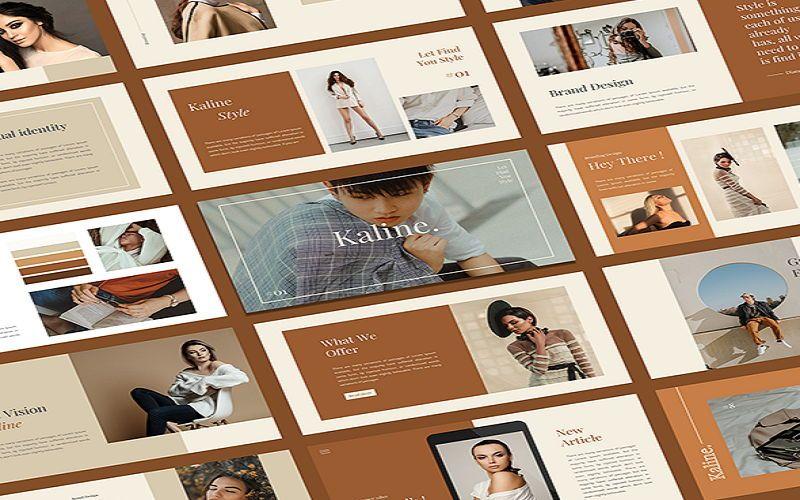 Kaline - Fashion Google Slide Template, 07330, Presentation Templates — PoweredTemplate.com