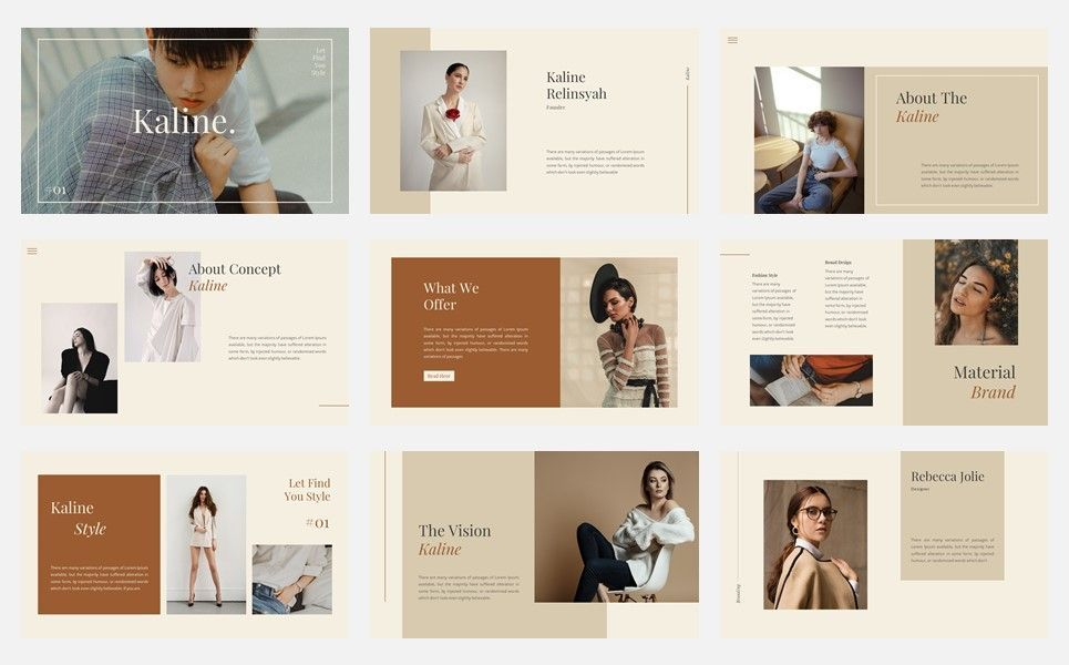 Kaline - Fashion Google Slide Template, Slide 2, 07330, Presentation Templates — PoweredTemplate.com