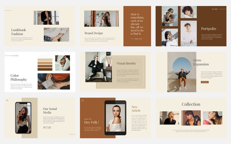 Kaline - Fashion Google Slide Template, Slide 4, 07330, Presentation Templates — PoweredTemplate.com