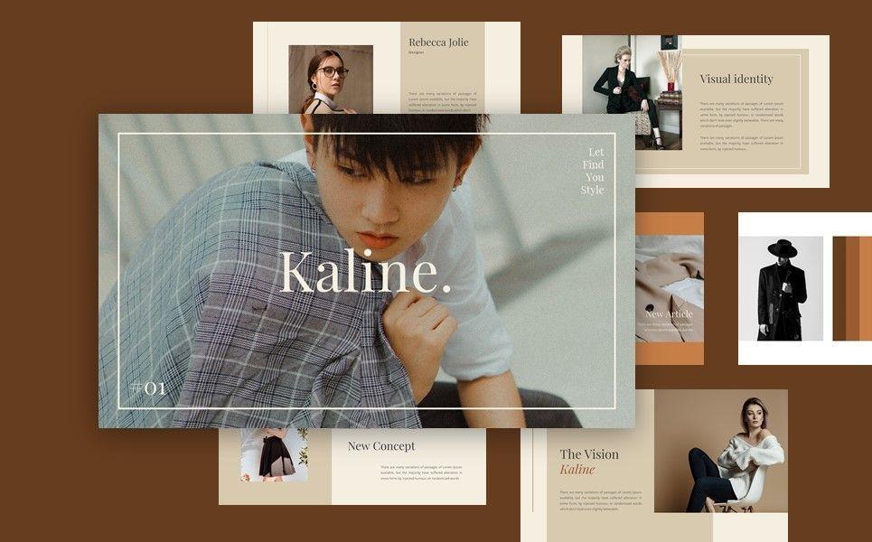 Kaline - Fashion Google Slide Template, Slide 6, 07330, Presentation Templates — PoweredTemplate.com