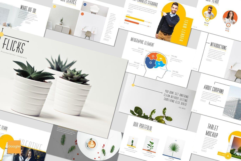 Flicks - Google Slides Template, 07331, Presentation Templates — PoweredTemplate.com