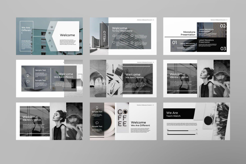 Mezzaluna Business Keynote, Slide 4, 07334, Presentation Templates — PoweredTemplate.com