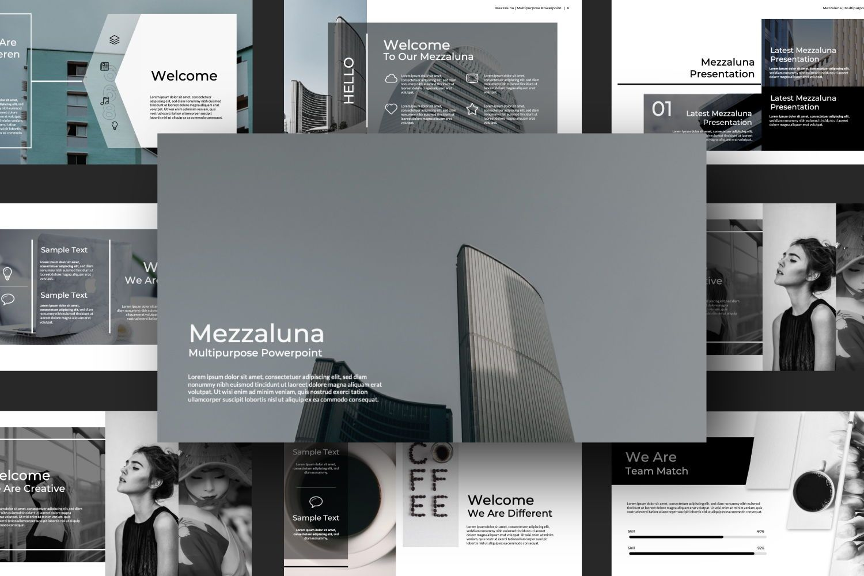 Mezzaluna Business Keynote, Slide 7, 07334, Presentation Templates — PoweredTemplate.com