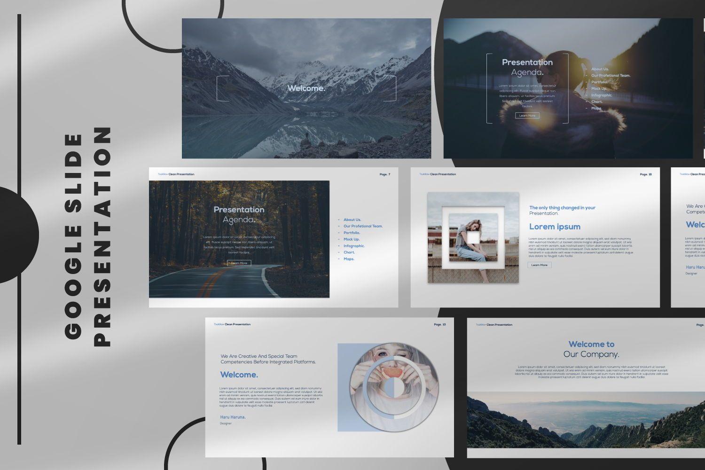 Tsukiko Business Google Slide, 07336, Presentation Templates — PoweredTemplate.com