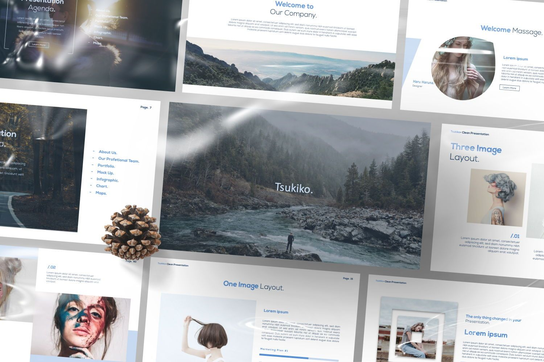 Tsukiko Business Google Slide, Slide 3, 07336, Presentation Templates — PoweredTemplate.com