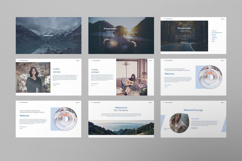 Tsukiko Business Google Slide, Slide 4, 07336, Presentation Templates — PoweredTemplate.com