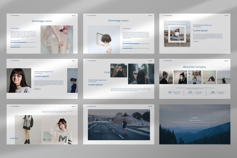 Tsukiko Business Google Slide, Slide 5, 07336, Presentation Templates — PoweredTemplate.com
