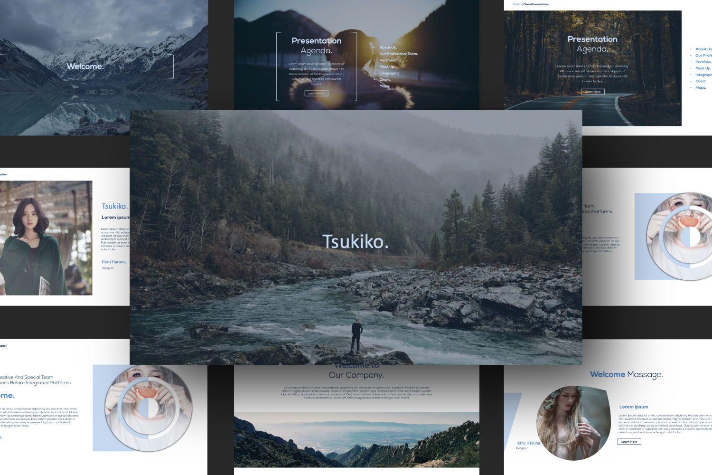 Tsukiko Business Google Slide, Slide 8, 07336, Presentation Templates — PoweredTemplate.com