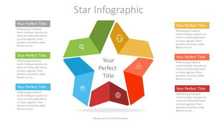 Infographics: Colorful Star Infographic #07337