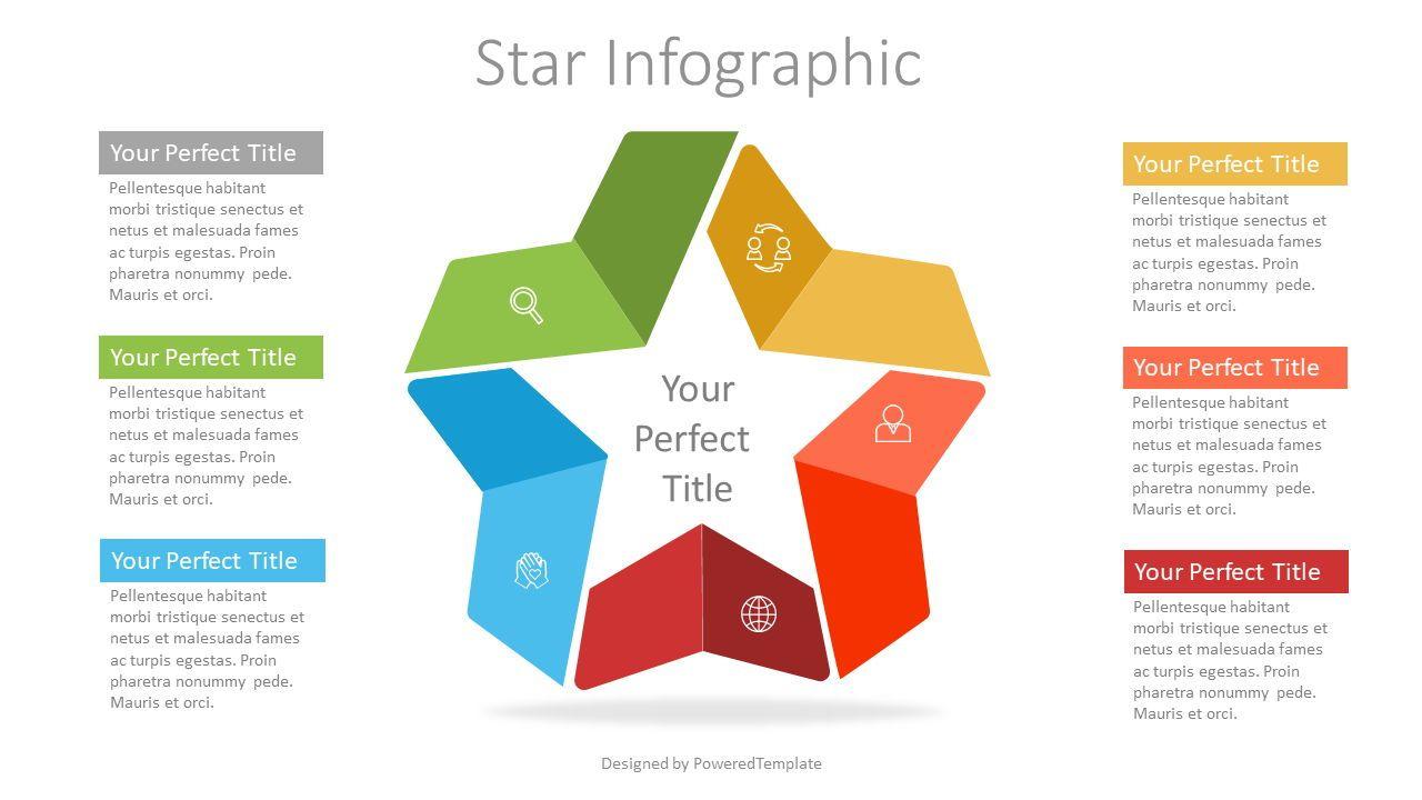 Colorful Star Infographic, 07337, Infographics — PoweredTemplate.com