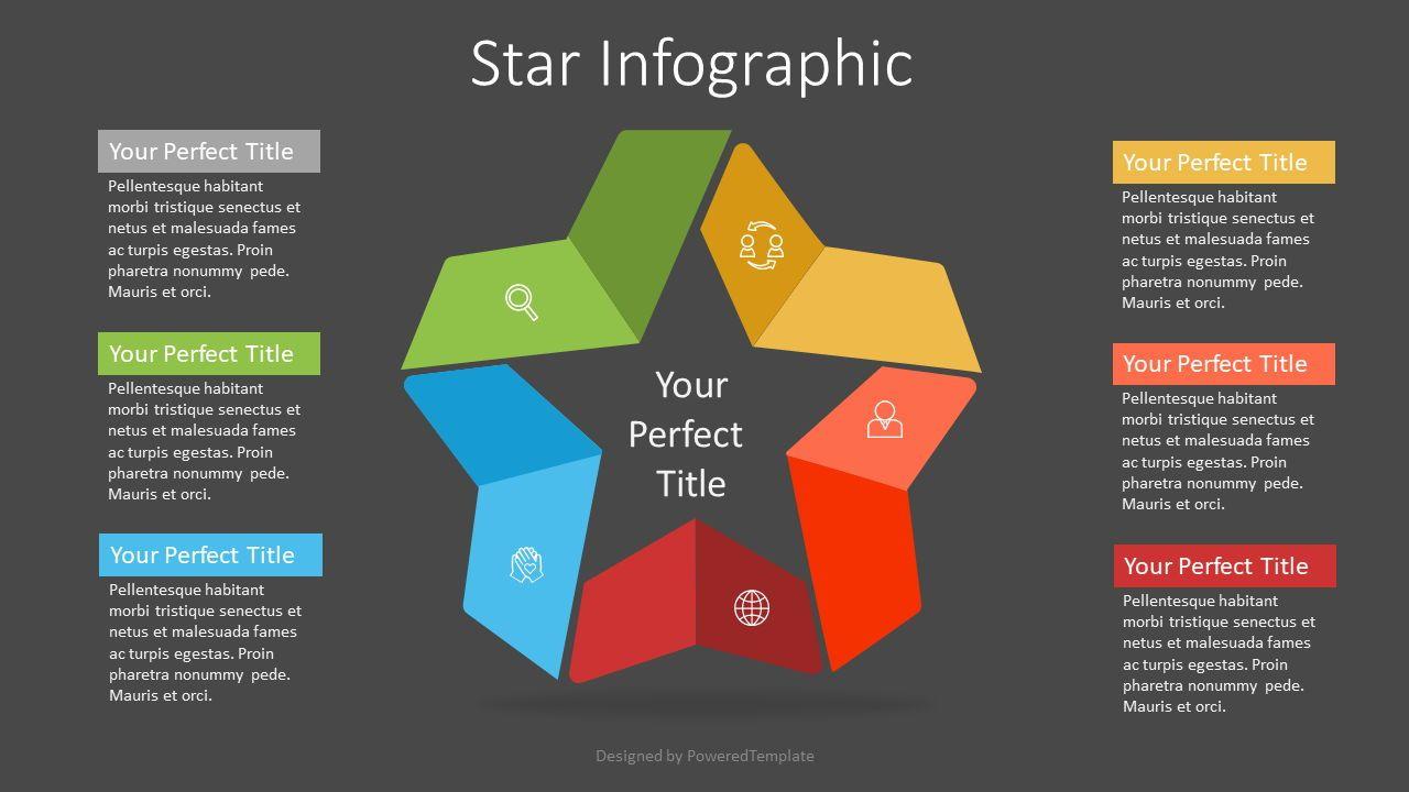 Colorful Star Infographic, Slide 2, 07337, Infographics — PoweredTemplate.com
