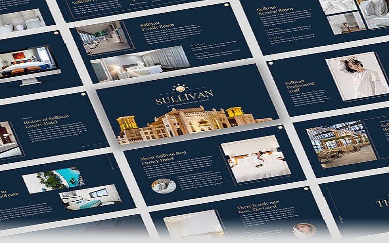 Sullivan - Luxury Hotel Google Slide Template, 07339, Presentation Templates — PoweredTemplate.com