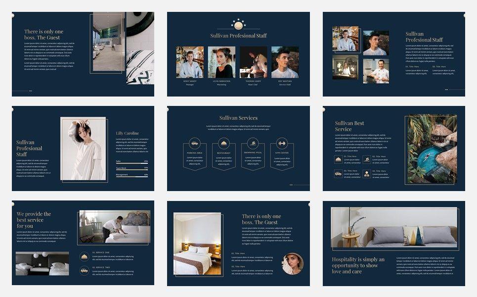 Sullivan - Luxury Hotel Google Slide Template, Slide 3, 07339, Presentation Templates — PoweredTemplate.com