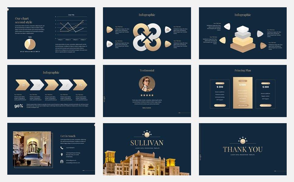 Sullivan - Luxury Hotel Google Slide Template, Slide 5, 07339, Presentation Templates — PoweredTemplate.com