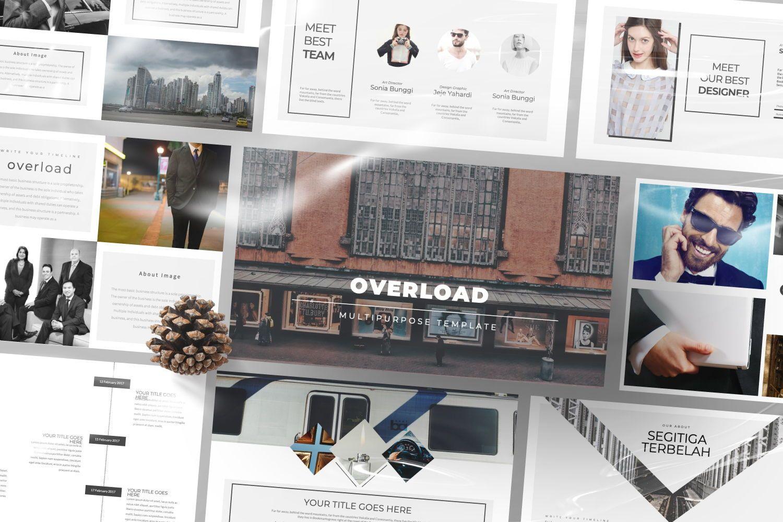Overload Business Google Slide, Slide 3, 07340, Presentation Templates — PoweredTemplate.com
