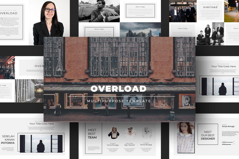 Overload Business Google Slide, Slide 4, 07340, Presentation Templates — PoweredTemplate.com