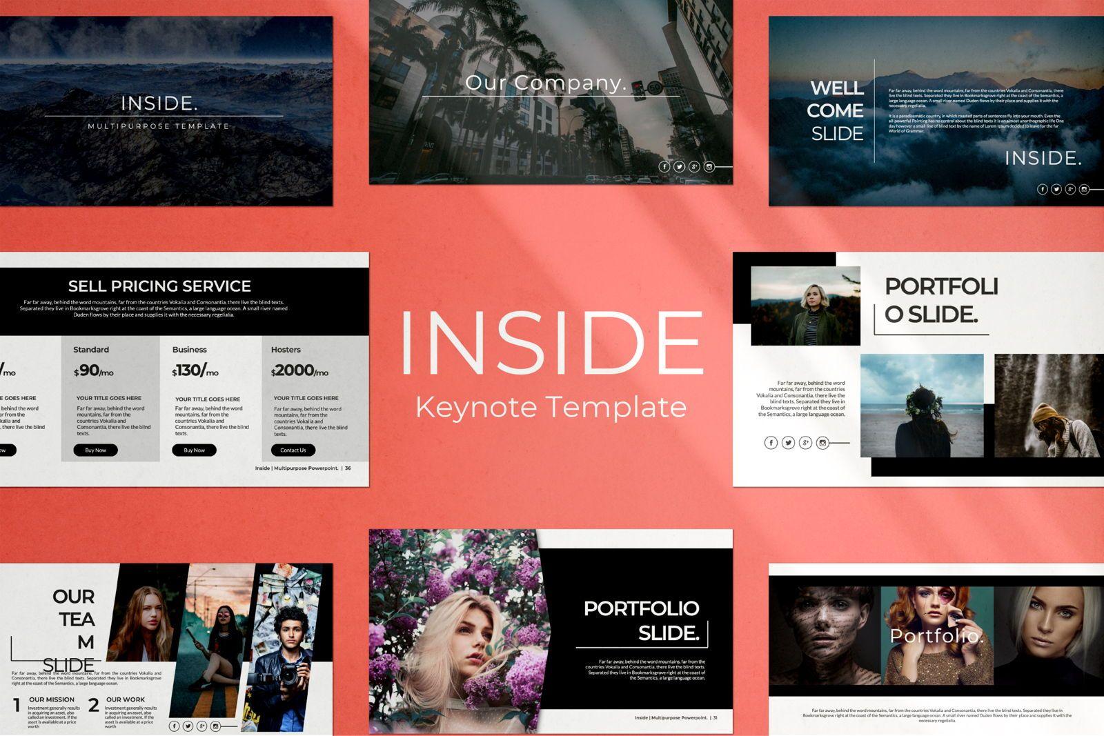 Inside Creative Keynote, 07343, Presentation Templates — PoweredTemplate.com