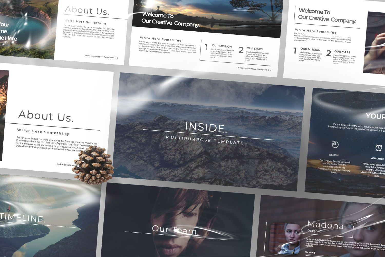 Inside Creative Keynote, Slide 3, 07343, Presentation Templates — PoweredTemplate.com
