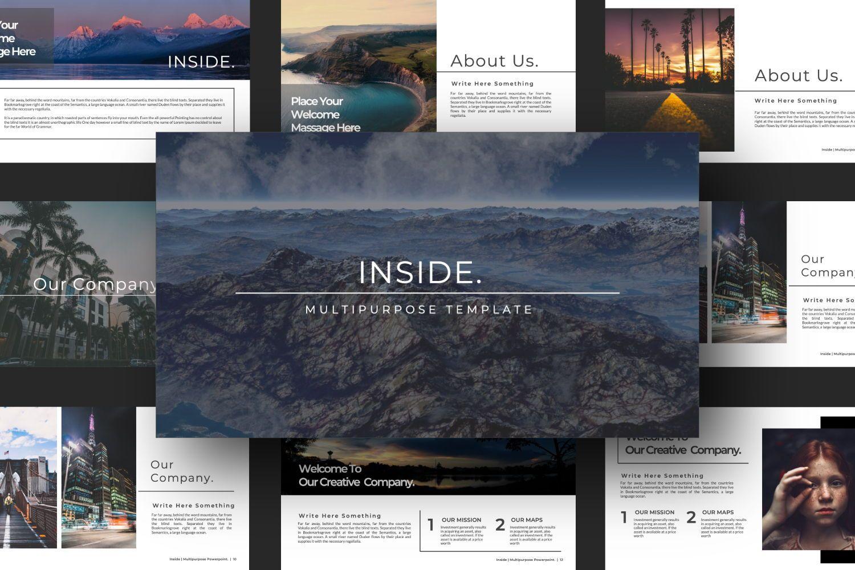 Inside Creative Keynote, Slide 4, 07343, Presentation Templates — PoweredTemplate.com