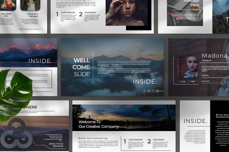 Inside Creative Keynote, Slide 6, 07343, Presentation Templates — PoweredTemplate.com