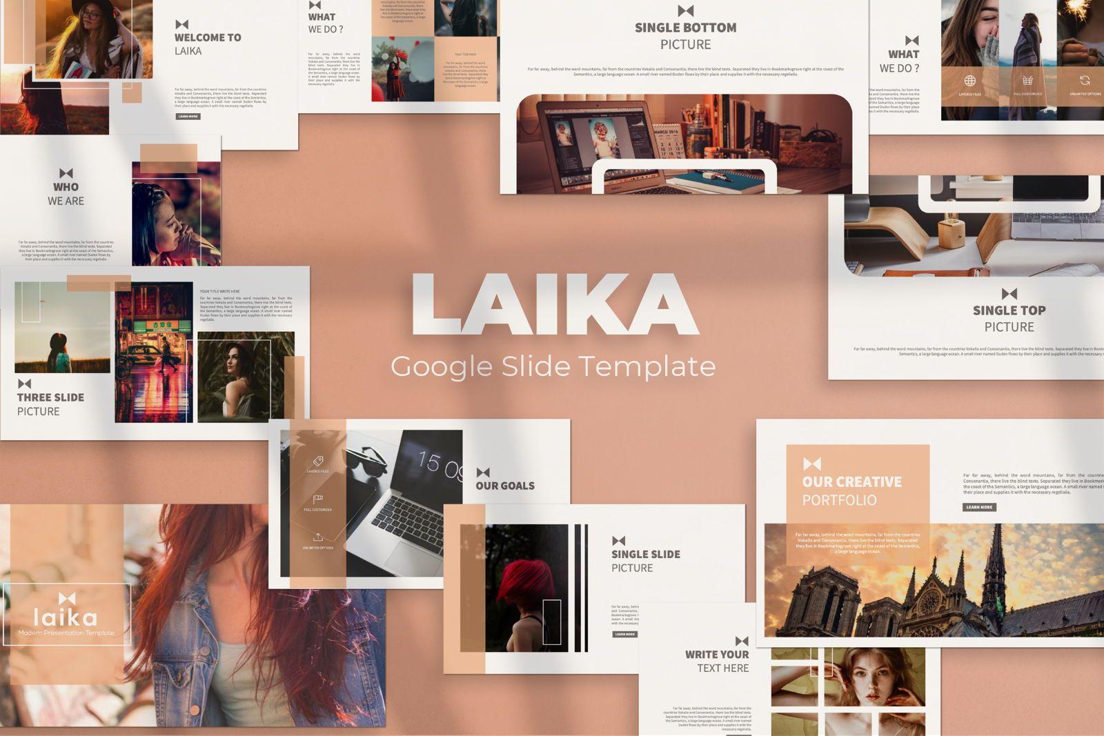 Laika Creative Google Slide, 07344, Presentation Templates — PoweredTemplate.com
