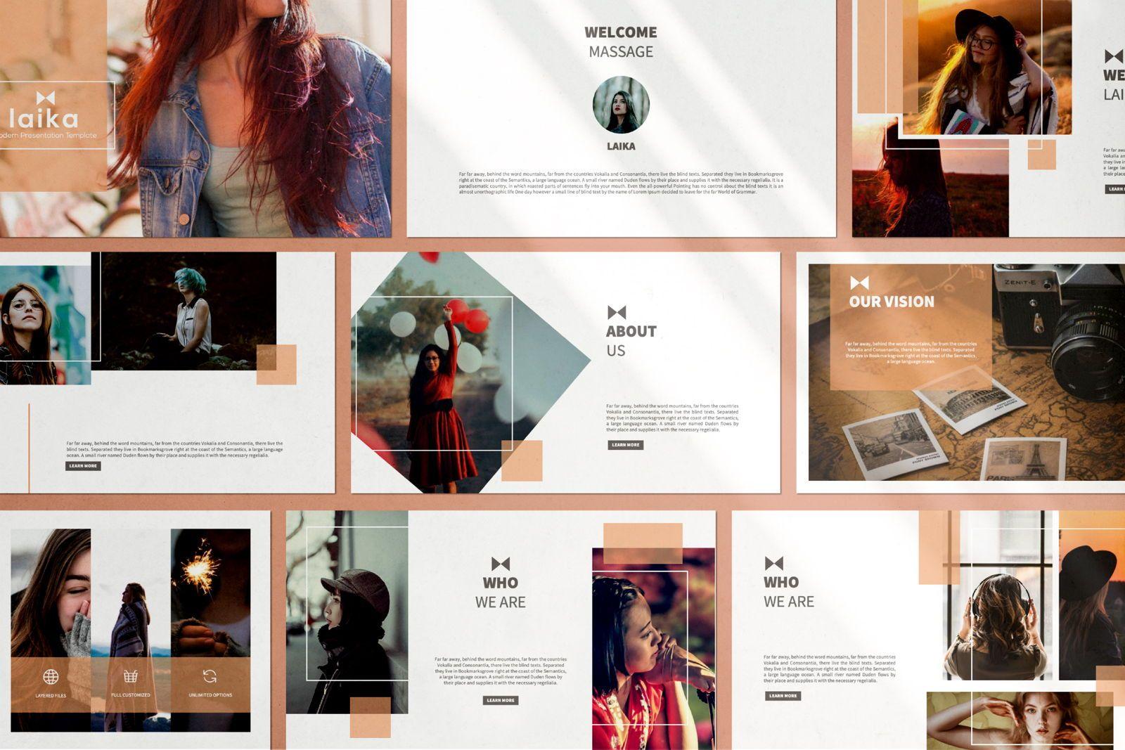 Laika Creative Google Slide, Slide 2, 07344, Presentation Templates — PoweredTemplate.com