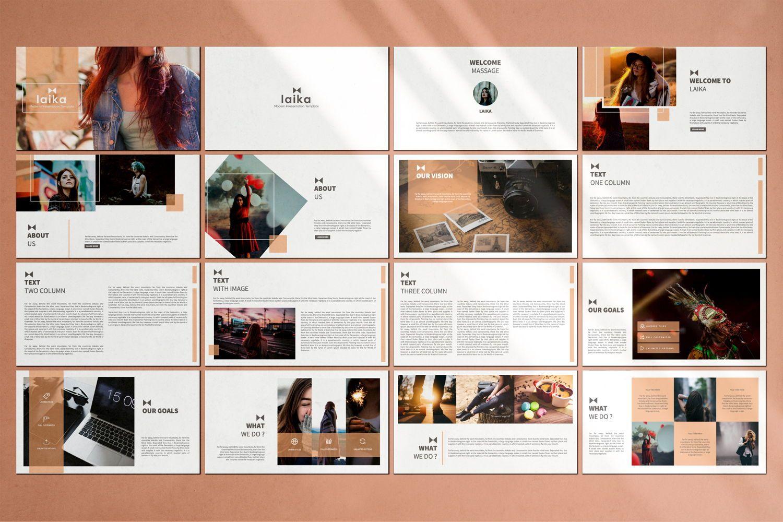 Laika Creative Google Slide, Slide 3, 07344, Presentation Templates — PoweredTemplate.com