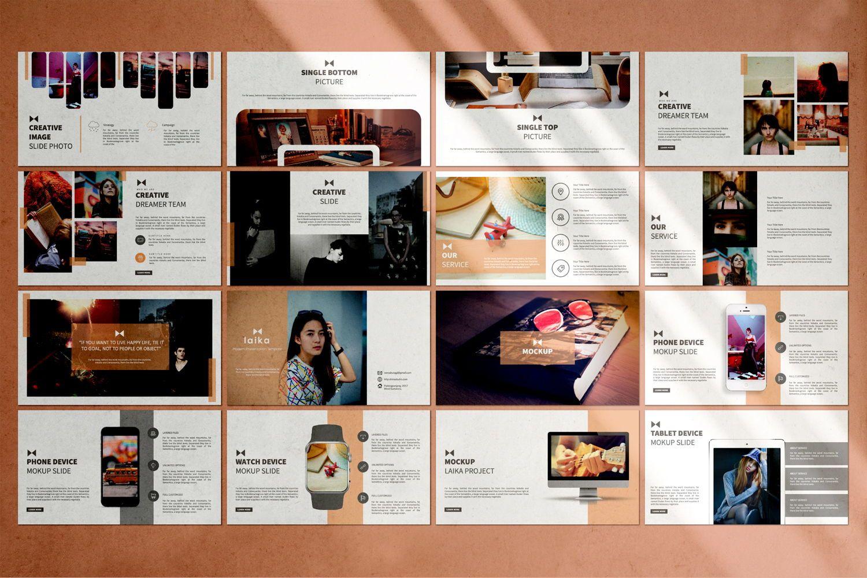 Laika Creative Google Slide, Slide 5, 07344, Presentation Templates — PoweredTemplate.com
