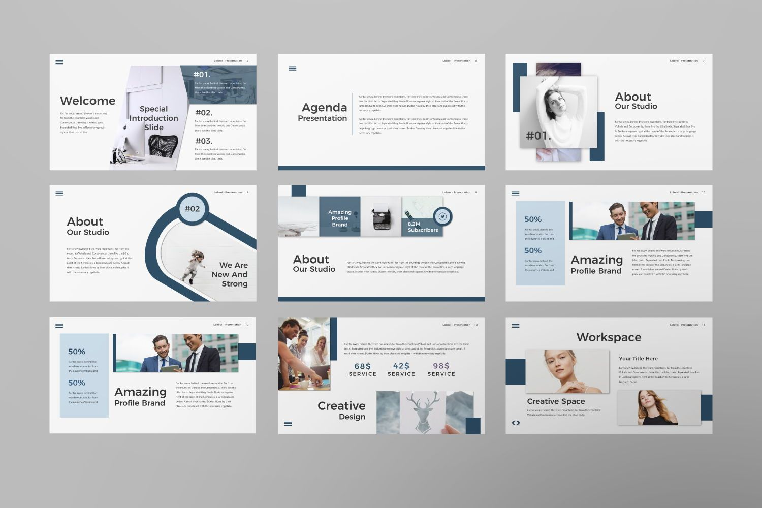 Lorelei Business Google Slide, Slide 5, 07345, Presentation Templates — PoweredTemplate.com