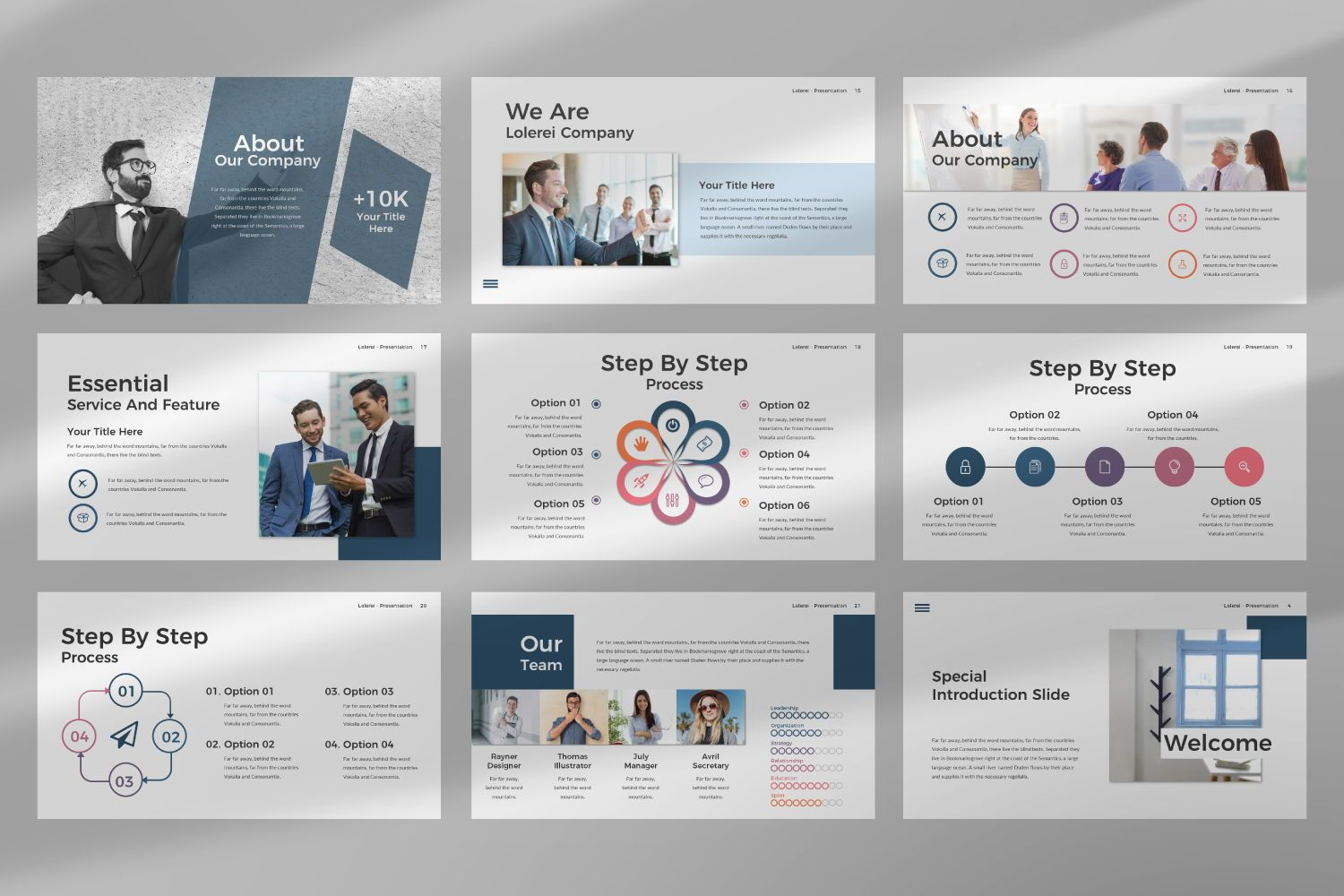 Lorelei Business Google Slide, Slide 6, 07345, Presentation Templates — PoweredTemplate.com