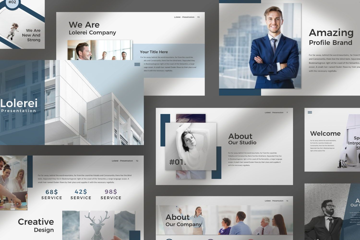 Lorelei Business Google Slide, Slide 7, 07345, Presentation Templates — PoweredTemplate.com