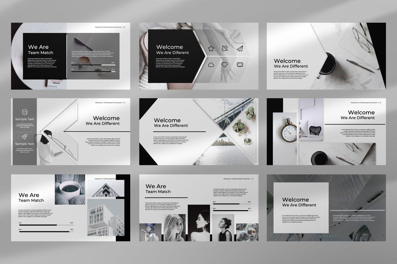 Mezzaluna Business Google Slide, Slide 5, 07346, Presentation Templates — PoweredTemplate.com