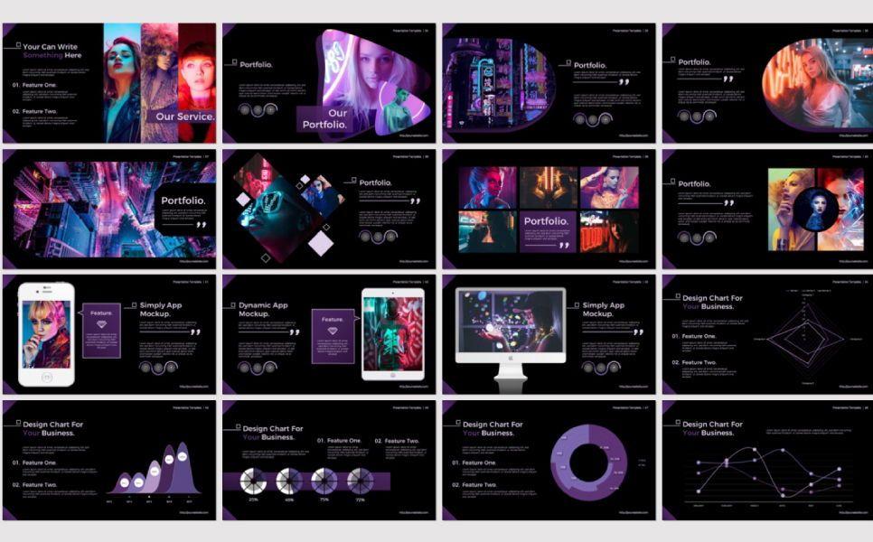 Night Light Business Google Slide, Slide 4, 07347, Presentation Templates — PoweredTemplate.com