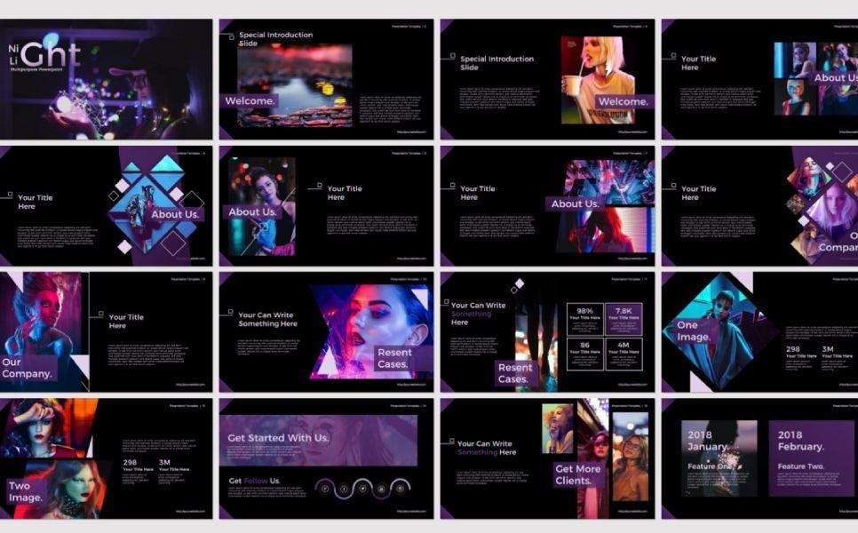 Night Light Business Google Slide, Slide 5, 07347, Presentation Templates — PoweredTemplate.com