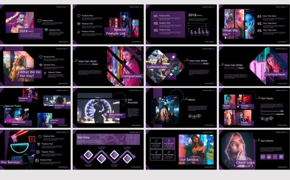 Night Light Business Google Slide, Slide 6, 07347, Presentation Templates — PoweredTemplate.com