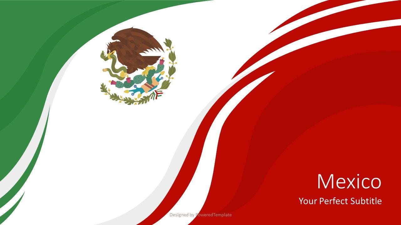 National Flag of Mexico, 07349, Presentation Templates — PoweredTemplate.com