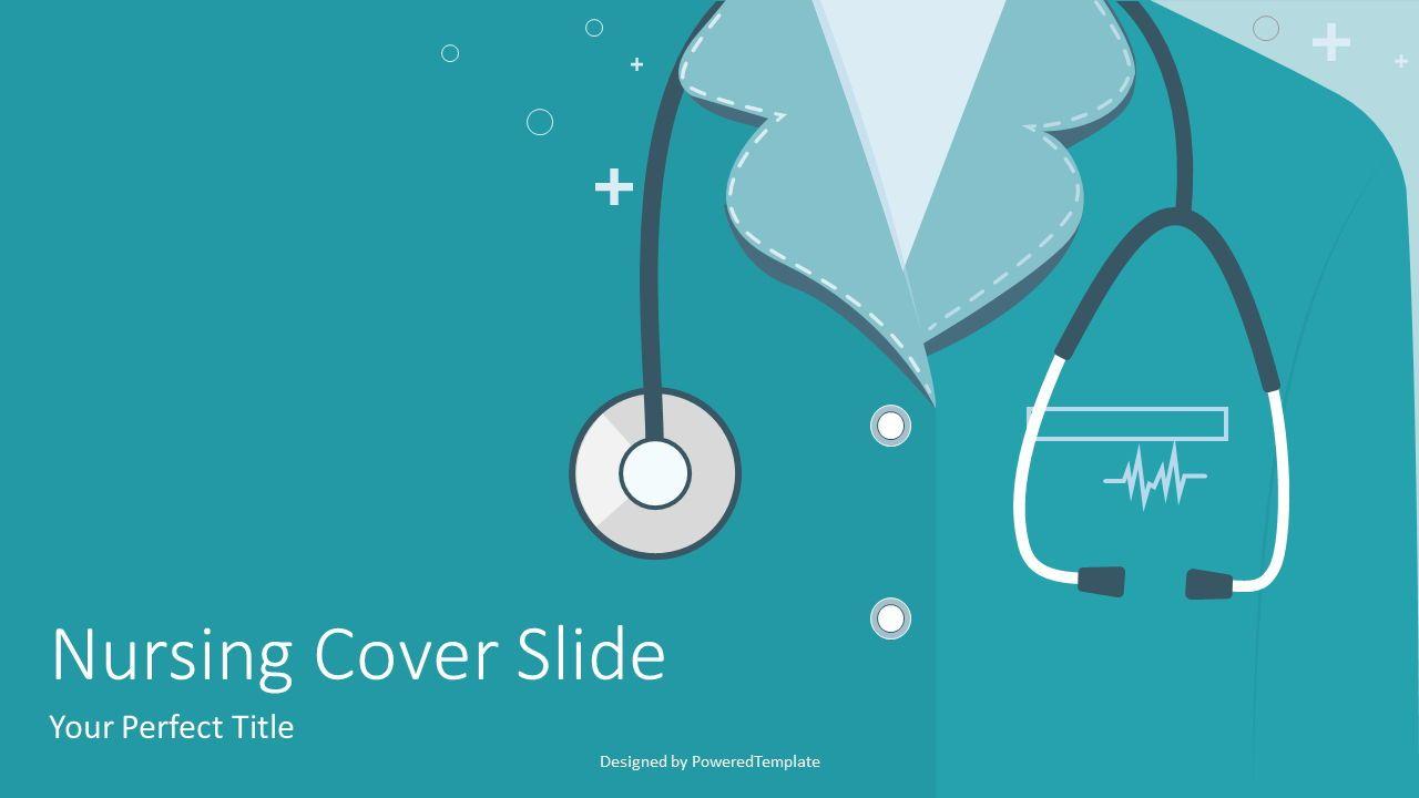 Doctor or Nurse with Stethoscope, 07351, Presentation Templates — PoweredTemplate.com