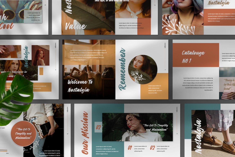 Nostalgia Brand Google Slide, 07352, Presentation Templates — PoweredTemplate.com