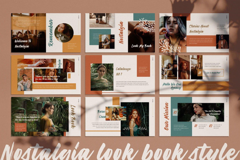 Nostalgia Brand Google Slide, Slide 2, 07352, Presentation Templates — PoweredTemplate.com