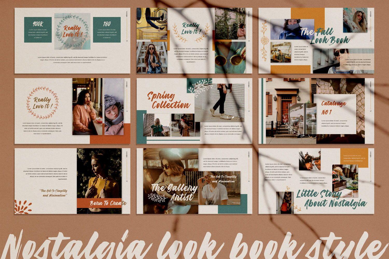 Nostalgia Brand Google Slide, Slide 3, 07352, Presentation Templates — PoweredTemplate.com