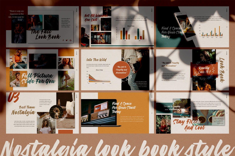 Nostalgia Brand Google Slide, Slide 4, 07352, Presentation Templates — PoweredTemplate.com