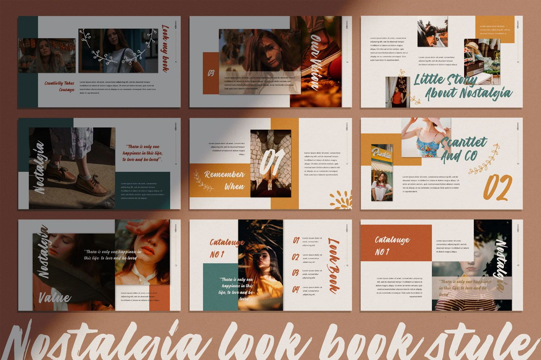 Nostalgia Brand Google Slide, Slide 5, 07352, Presentation Templates — PoweredTemplate.com