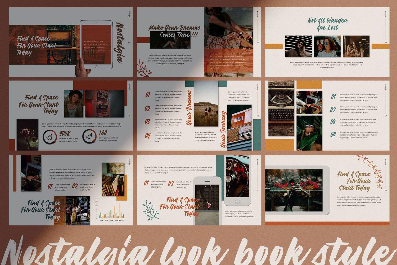 Nostalgia Brand Google Slide, Slide 6, 07352, Presentation Templates — PoweredTemplate.com